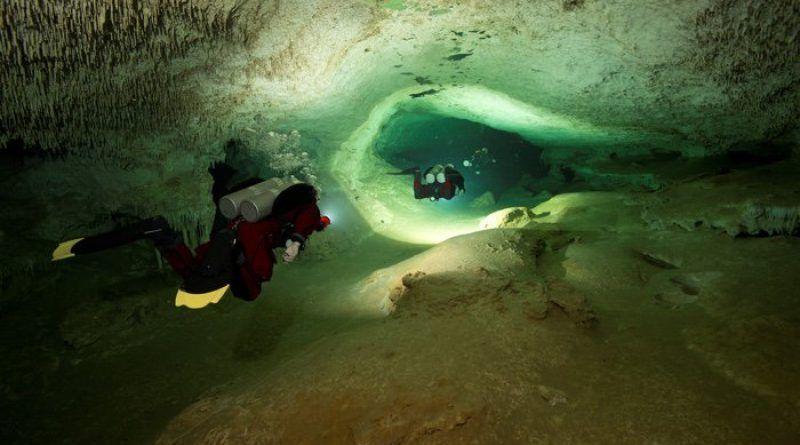 cueva submarina sac actun mexico