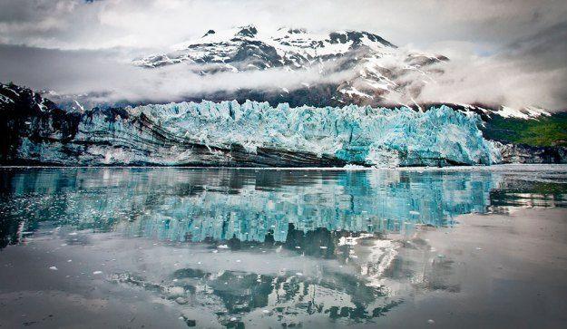 glaciares y montañas